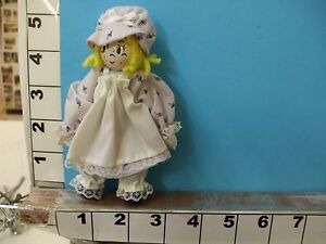 2ce09495a37fd girl lavendar dress clothespin doll hand painted clothes hand sewn ...