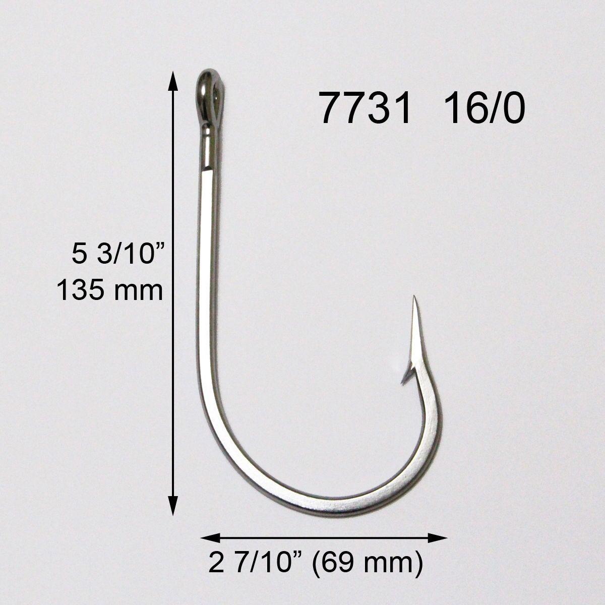 20 Pcs 7731 16 0 Stainless Steel Big Game  Fishing Hook Tuna Shark Marlin Dorado  unique shape