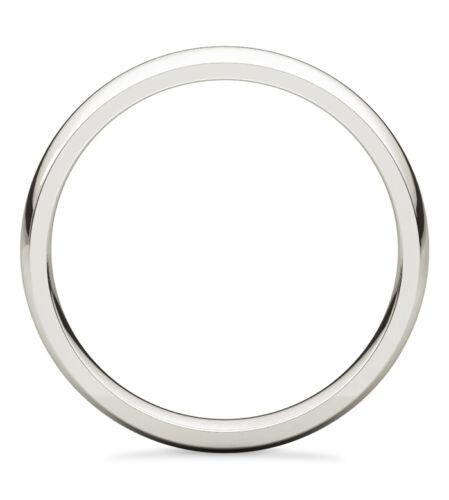 10K or Blanc Plain Bombée Mariage Bande Largeur 2 mm 100/% 10K or Blanc Comfort-Fit