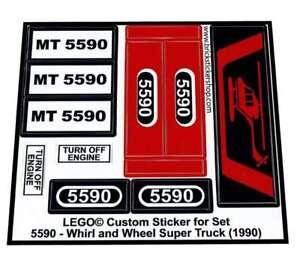 Lego® Custom Pre-Cut Sticker for Model Team set 5590 - Whirl & Wheel Super Truck
