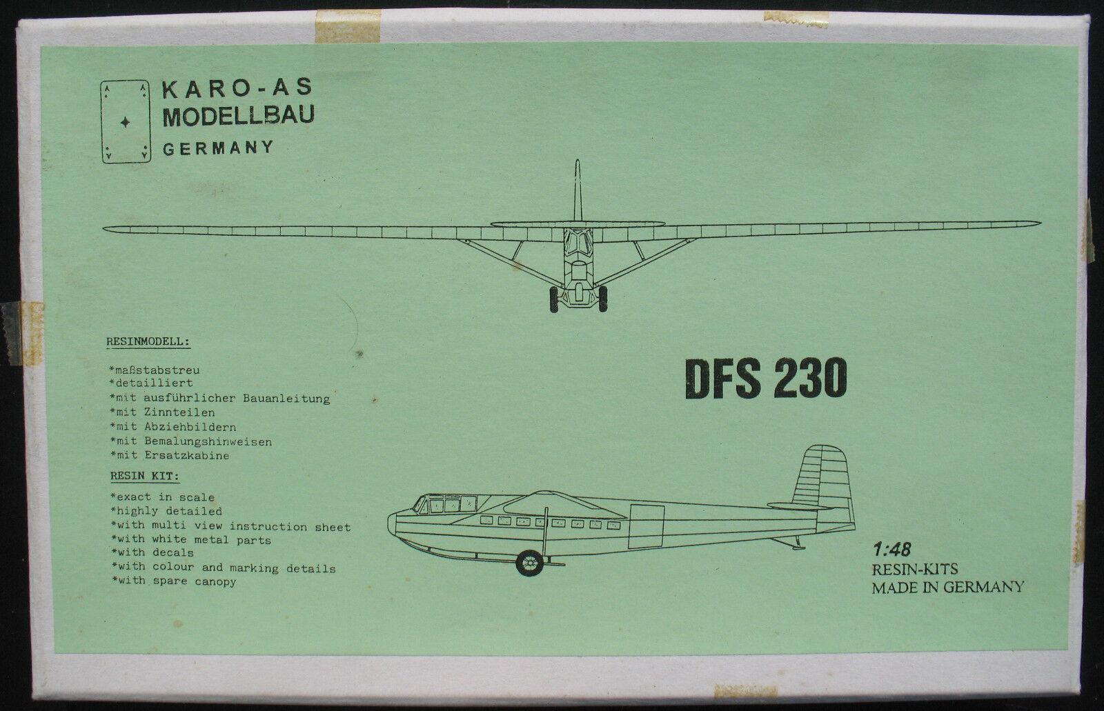 KARO-AS KA. 48-10 - DFS 230 - 1 48 - Resin + Metall - Segelflugzeug Bausatz Kit