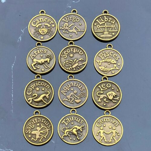 12 Horóscopo Zodíaco Signos Y Ojo De Tigre Con cuentas Pulsera De Piedras Preciosas Naturales