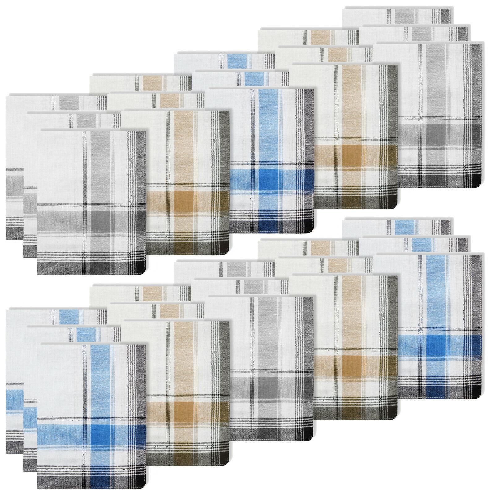 30 Coloured Mens Fabric Handkerchiefs ⭐ 100% Cotton ⭐ Handkerchiefs ⭐ 40X40CM ⭐ WOW