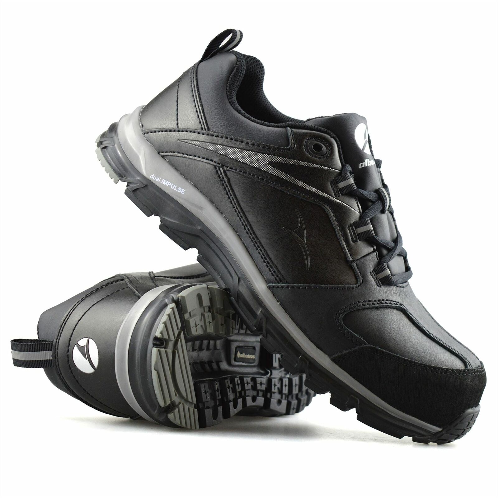 Mens Albatros Leather Safety Steel Toe Cap Work Ankle Stiefel Trainers schuhe Größe