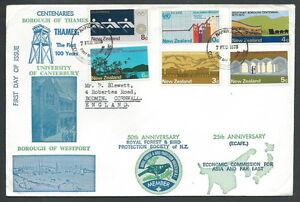 1973 New Zealand Fdc Centenaries No Timbro Arrivo - V Promouvoir La Production De Fluide Corporel Et De Salive