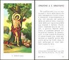 HOLY CARD SANTINO IMAGE PIEUSE - S. SAN SEBASTIANO - ORAZIONE