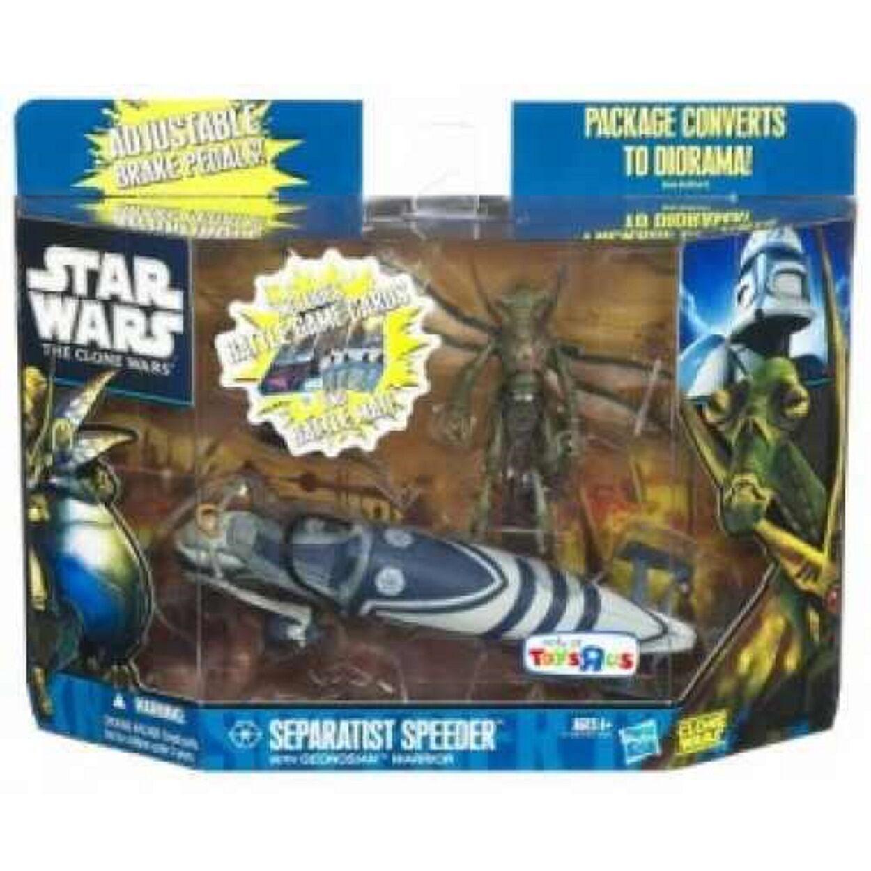 Star Wars Exclusive Separatist Speeder + Geonosian Warrior figure new