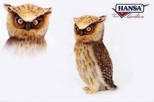 Owl 10 3/16in Stuffed Animal Stuffed Animal Stuffed Toy Hansa Toy 6767