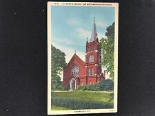 Greenville, SC ST. Mary's Church 338 West Washington Street  postcard  G-87