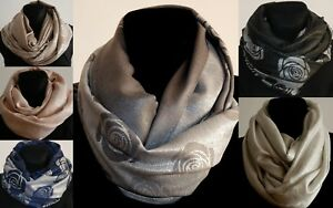 Damen-Glanz-doppelseitiger-Elegant-Wickeltuch-Stola-Schal-Hijab-Kopf