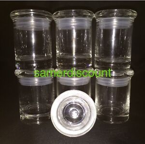 6 jars glass medical herb stash jars odor less air tight. Black Bedroom Furniture Sets. Home Design Ideas