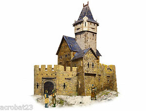 Building-HUNTING-CASTLE-War-Games-Terrain-Landscape-Scenery-Middle-Ages-25-28mm