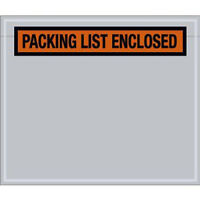 500 Packing List Envelopes 4-1/2 X 5-1/2 Clear Packing List Enclosed Pouches