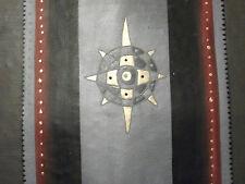 Abstract Star Pintura Al Óleo Lienzo Contemporáneo Moderno Gris Negro Rojo
