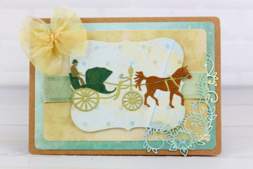 /& Horse FREE UK P/&P Craft Cutting Die Tattered Lace VINTAGE CARRIAGE D1293