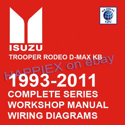 1993-2011 COMPLETE ISUZU WORKSHOP SERVICE MANUAL TROOPER RODEO D-MAX KB TF