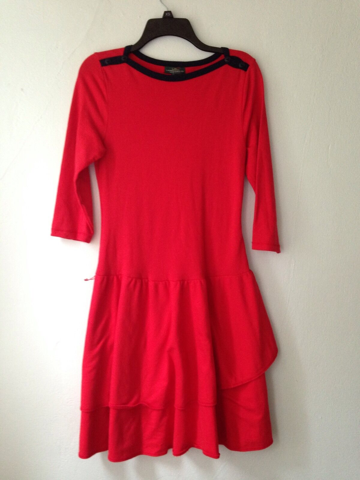 Ralph Lauren Jeans Red Cotton Casual Dress Size Small