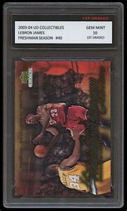 LEBRON JAMES 2003-04 UPPER DECK #40 1ST GRADED 10 ROOKIE CARD LAKERS/CAVALIERS