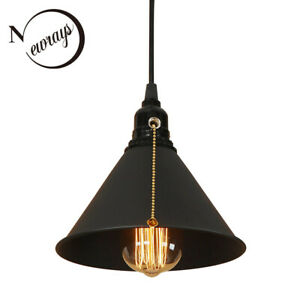 Metal Shade Pendant Lamp With Chain