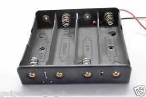 18650 LITHIUM BATTERY HOLDER WITH 15MM LEADS CLIP 3.6V 3.7V 4.2V QUAD FOUR 4