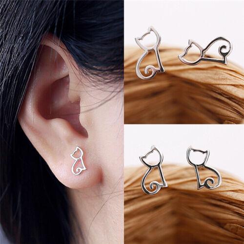 1 paire de boucles d/'oreilles en argent plaqué élégante creuxBB
