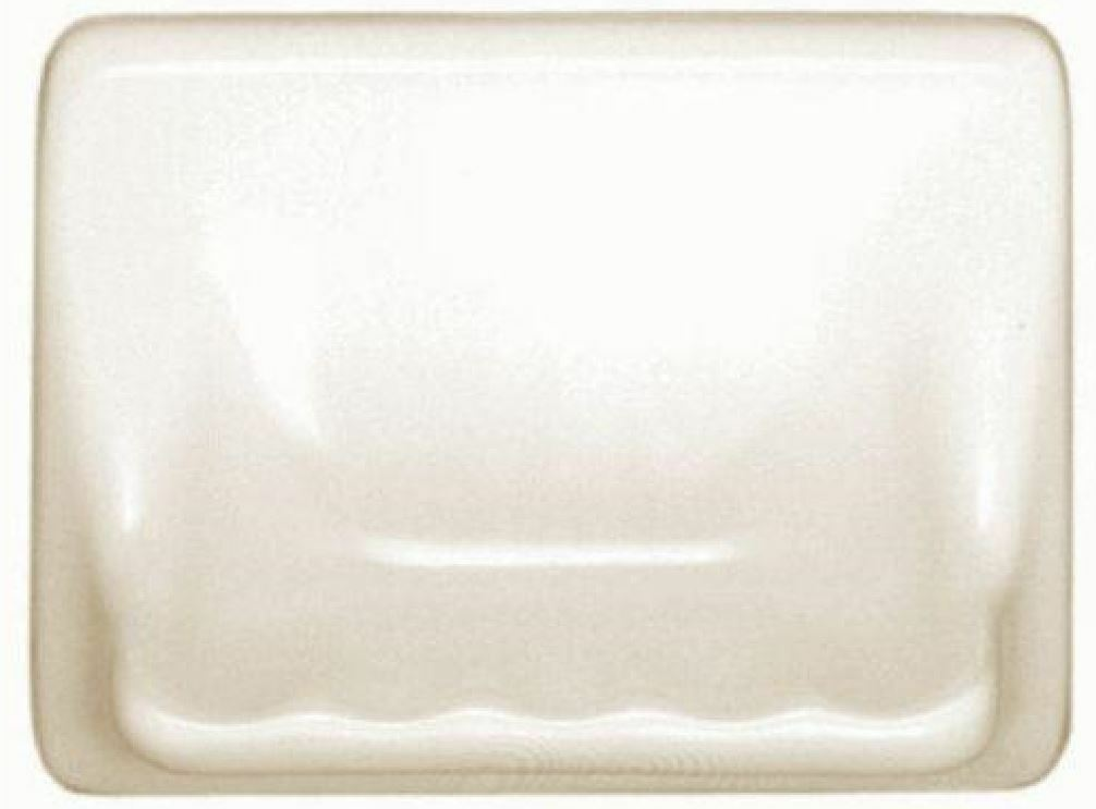 "Bath Accessory Shower Soap Dish Almond Ceramic Thinset Mount 6-1//2/"" x 4-7//8/"""