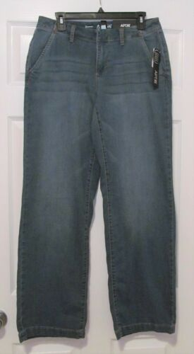 Size 8 Women/'s Apt 9 Mid-Rise Trouser Jeans Medium Wash NWT
