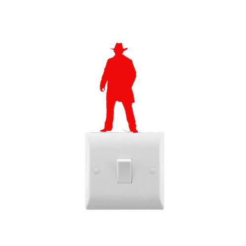 Novedad pegatina de interruptor de luz de Vaquero-Varios Colores Disponibles