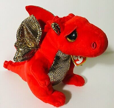 rare DOB:6//11//14 Ty Beanie Baby ~ LEGEND the RED Dragon MWMT ~ Retired