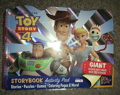 Disney Pixar Toy Story 4 Activity Pad Stories Puzzles Games Coloring Pages Ebay