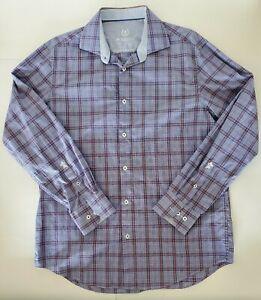Bugatchi-Uomo-Long-Sleeve-Button-Up-Shirt-Men-039-s-Size-16-5-34-35