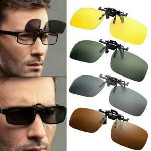 Anti Glare Driving Sunglasses Extension Flip Up Eyewear Spectacles Lens Clip On