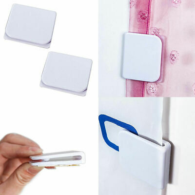 2Pcs Shower Curtain Clips Anti Splash Spill Stop Water Leaking Guard Bathroom ho
