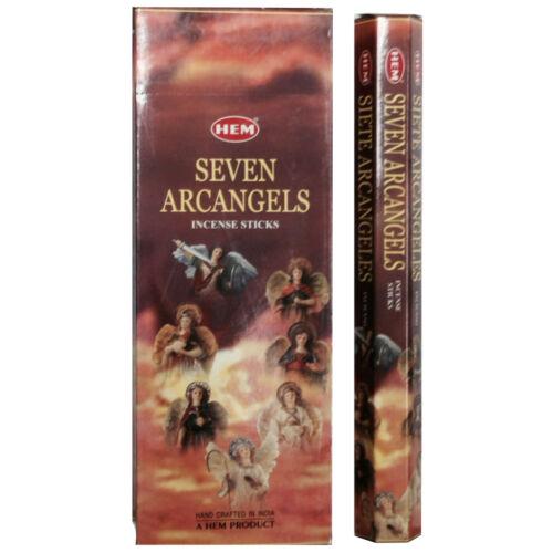 LOT OF 100 Stick 7 ARCHANGEL SEVEN  Incense HEM ~ 5 TUBE OF 20 Sticks = 100