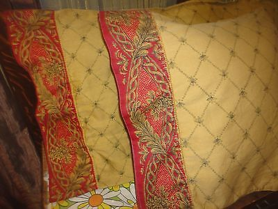 CROSCILL IMPERIAL EMPRESS RED BLACK GOLD (PAIR) STANDARD PILLOWCASES 19 X 30