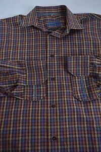 Mens-Large-Luchiano-Visconti-Black-Geometric-Flip-Cuff-2-ply-Mercerized-Shirt