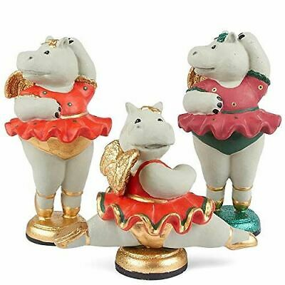 Factory Direct Craft Twinkle Toes Ballerina Hippo Figurine2 Pieces