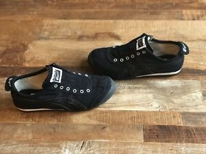 onitsuka tiger mexico 66 slip on black and white leather queen