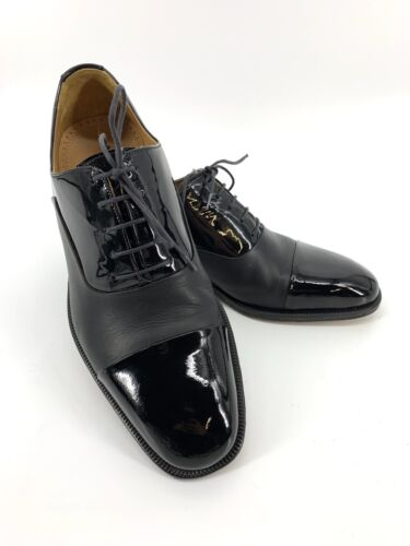Magnanni Cesar Black Patent Leather Cap Toe Oxford