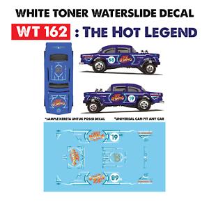 Wt162 White Toner Waterslide Decal The Hot Legend For Custom 1 64 Hot Wheels Ebay