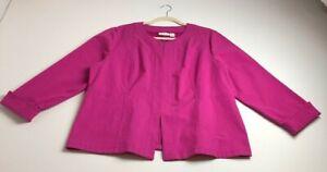 New-Chico-s-Women-s-Long-Sleeve-Textured-Jacket-Size-3-Pink-Crewneck-Romantic