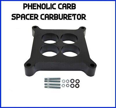 "Carb Carburetor Spacer 1/"" Phenolic Insulator 4 Port Hole Holley Carter Edelbrock"