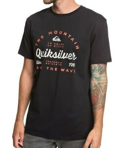 QUIKSILVER-MENS-T-SHIRT-NEW-DROP-IN-DROP-OUT-BLACK-SHORT-SLEEVED-TOP-TEE-9S-95-K