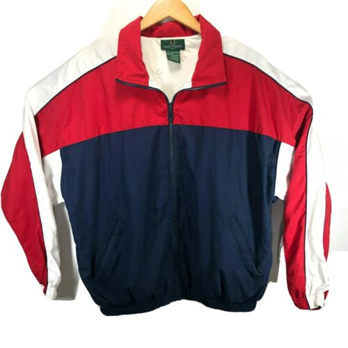Vintage Fred Perry Color Block Mens Full Zip Track