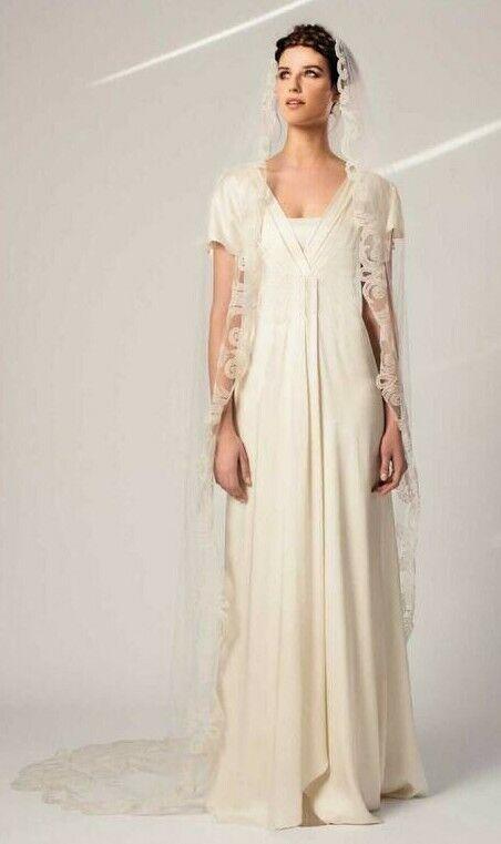 Temperley Smooth Silk Minimalist floaty wedding gown Georgia 10 38