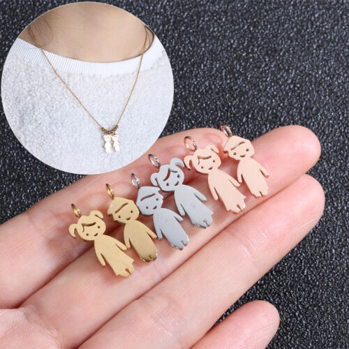 Stainless Steel Jewelry Chain DIY Girl Boy Pendant Family Necklace Son Daughter