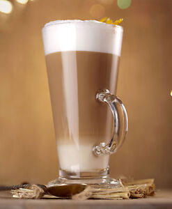 Image Is Loading Clear Tall Gl Latte Mugs Tea Irish Coffee