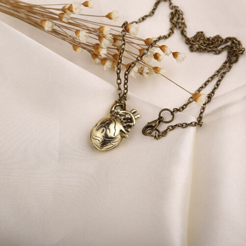 Unique Vintage Anatomy Heart Pendant Necklace for Men and Women Jewelry.