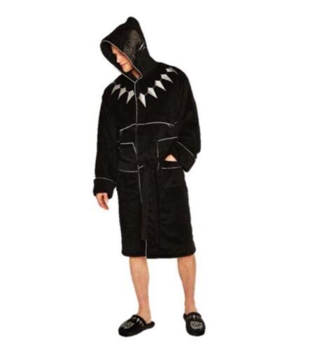MARVEL COMICS BLACK PANTHER LUXURIOUS FLEECE BATH ROBE DRESSING GOWN BATHROBE