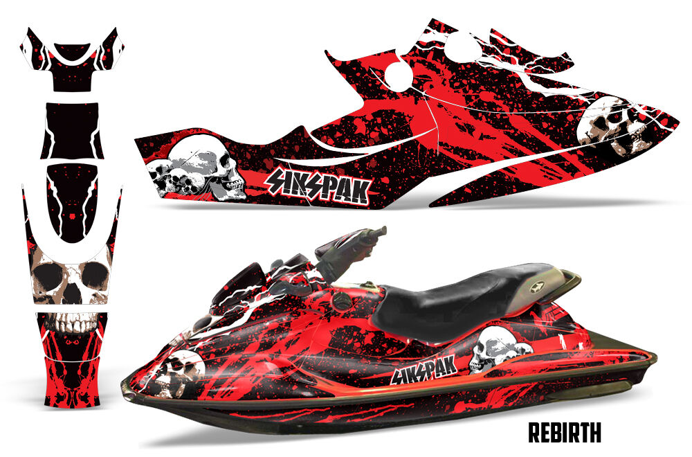 Sikspak Jet Wrap Ski Grafiken Wrap Jet Sea Doo GSX Limited Kit Aufkleber 1996-1999 e4bb7c